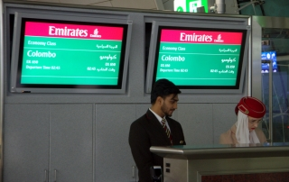 PUERTA DE EMBARQUE EN DUBAI